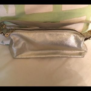 Muted Gold leather evening bag